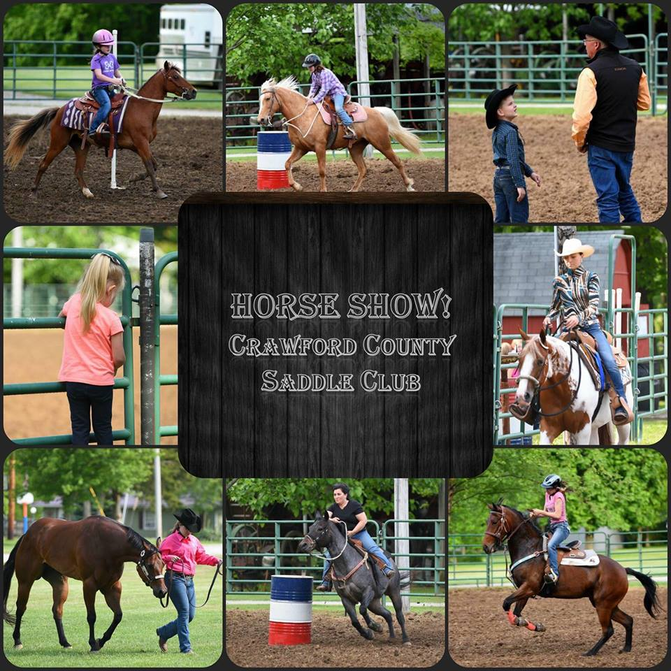 Crawford County Saddle Club Horse riders at horse shows