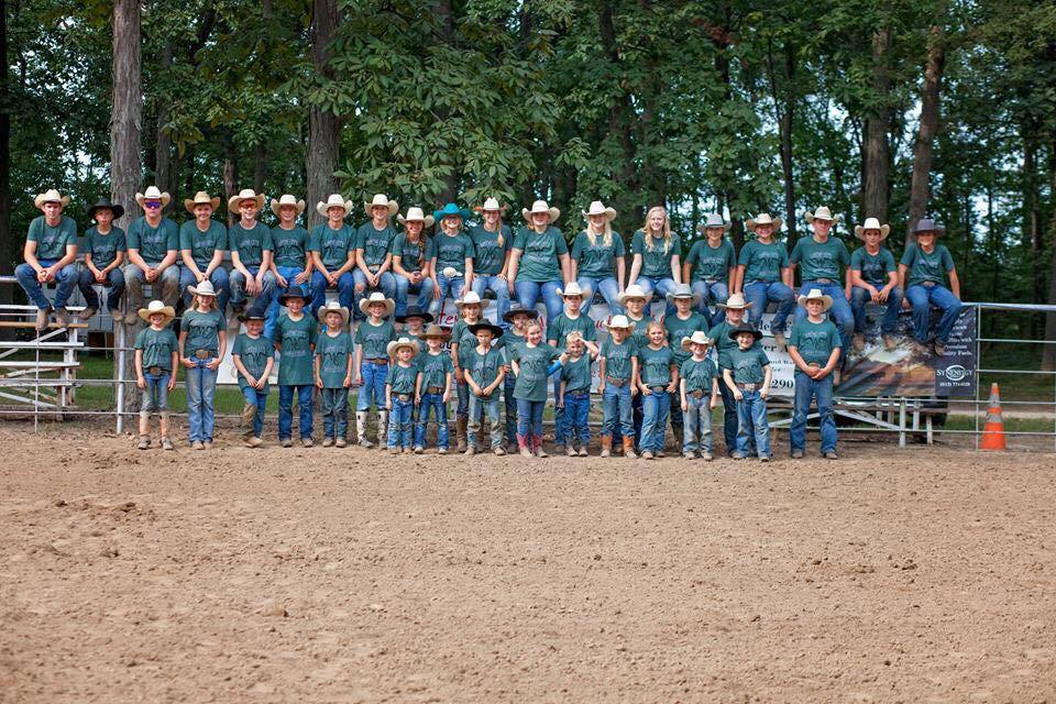 Wayne City Saddle Club Club member group photo