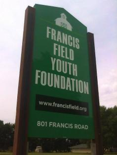 Francis Field Foundation Street Sign