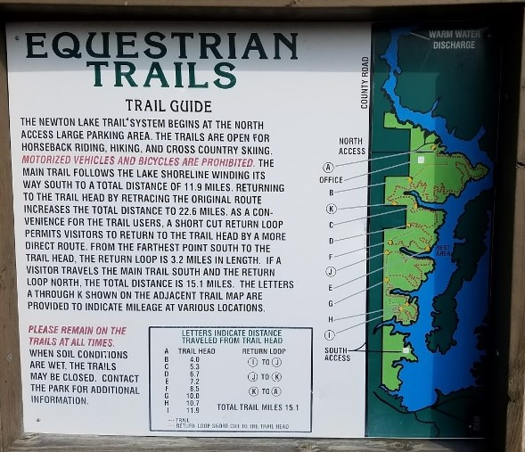 Newton Lake Conservation Area Trail Map