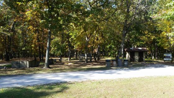 Horse campground at Wolf Creek State Park